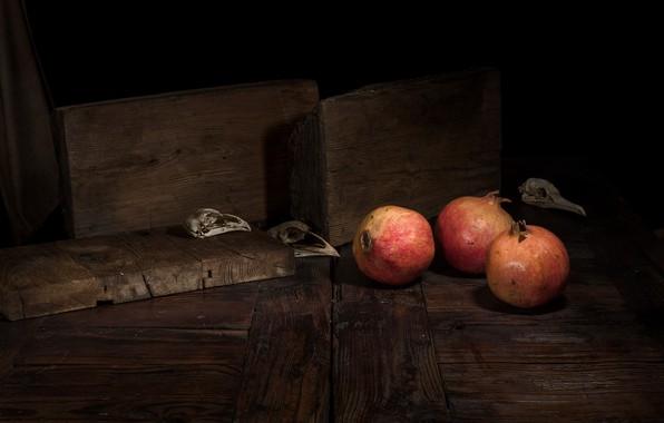 Картинка еда, фрукты, гранаты