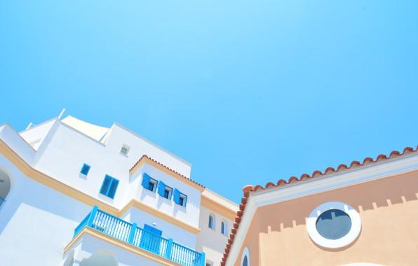 Картинка city, утро, Греция, house, sky, style, morning, architecture, Greece