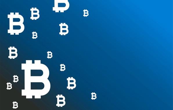 Картинка синий, фон, лого, logo, blue, fon, bitcoin, биткоин, btc
