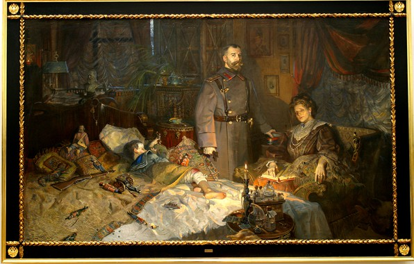 Картинка картина, семья, Николай II, Павел Рыженко
