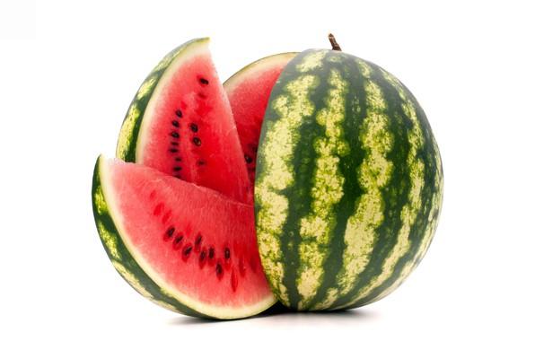 Картинка арбуз, ягода, белый фон, лакомство
