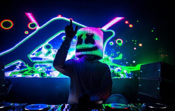 Картинка диджей, EDM, Marshmello, DJ