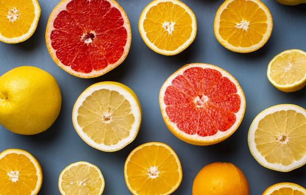 Картинка лимон, апельсин, апельсины, цитрус, цитрусы, лимоны, грейпфрут