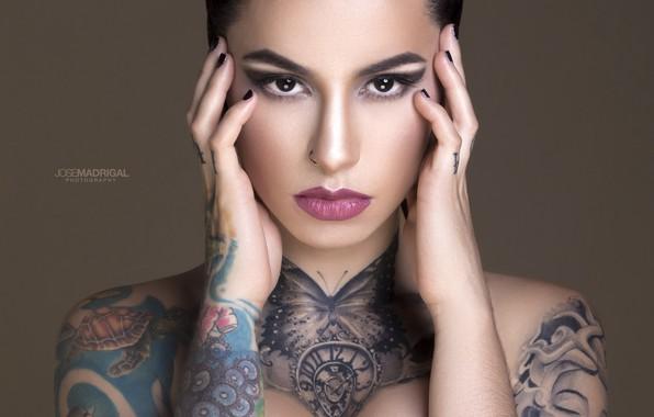 Картинка model, look, tattoos, Jose Madrigal
