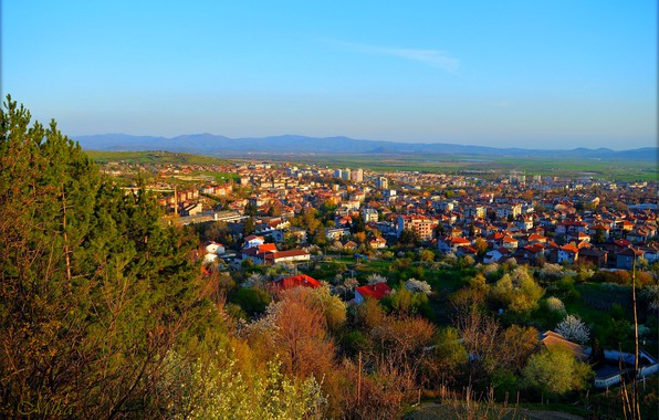 Картинка Дома, Город, Панорама, Крыши, Panorama, Town