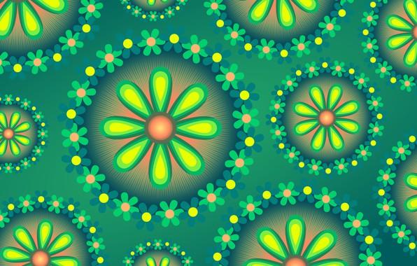 Картинка цветы, фон, графика, текстура, digital art, флора