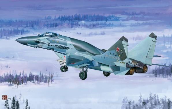 Картинка ВВС России, многоцелевой истребитель четвёртого поколения, ОКБ МиГ, МиГ-29СМТ, модернизированный вариант истребителя