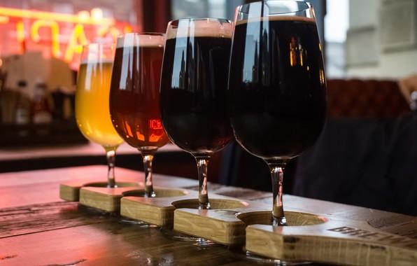 Картинка пиво, красота, бокалы