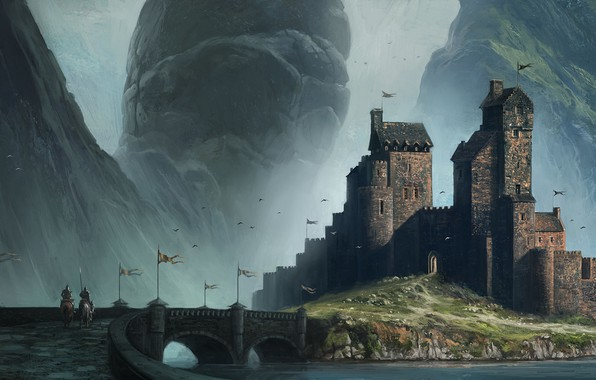 Картинка замок, Andreas Rocha, Homecoming, Myths & Monsters