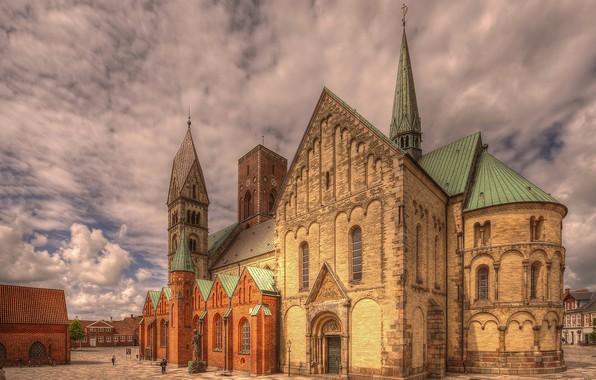 Картинка Дания, церковь, собор, Рибе