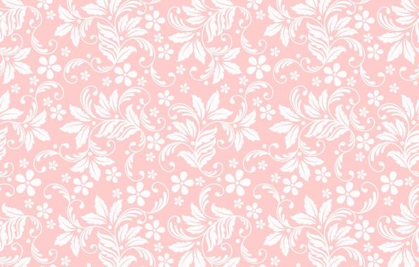 Фото обои текстура, розовый фон, цветочный орнамент, бесшовный