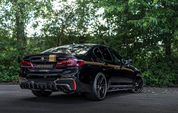 Картинка BMW, седан, вид сзади, 2018, Biturbo, Manhart, M5, V8, F90, 4.4 л., 723 л.с., MH5 …