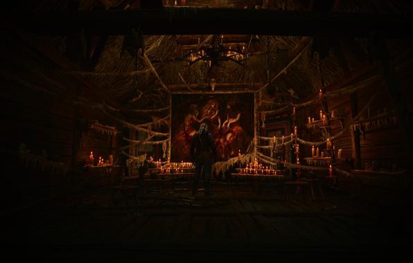 Картинка Свечи, Картина, Ведьмы, Witcher 3 Wild Hunt, Фон.