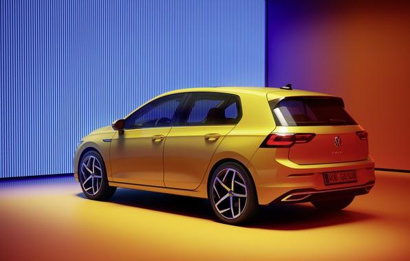 Картинка Volkswagen, вид сзади, хэтчбек, Golf, hatchback, R-Line, 2020