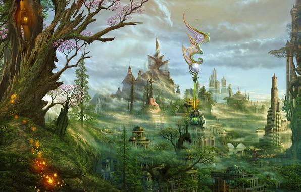Картинка пейзаж, фентези, красота