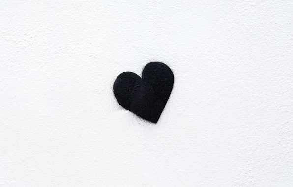 Картинка фон, чёрный, сердце, минимализм, black, minimalism, heart, background