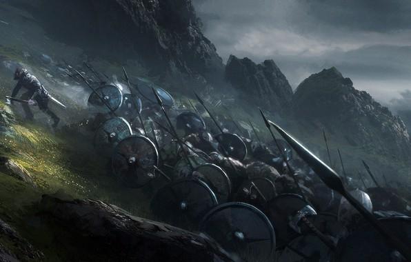 Картинка Воины, Shields, Викинги, Juan Pablo Roldan, Viking shield