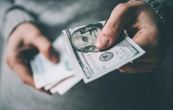Картинка money, dollars, hand, paper