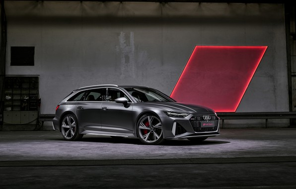 Картинка свет, Audi, универсал, RS 6, 2020, 2019, тёмно-серый, V8 Twin-Turbo, RS6 Avant