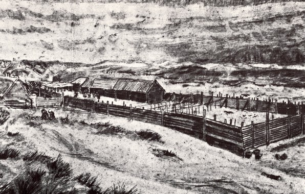 Картинка ферма, Vincent van Gogh, Fish-Drying Barn 2