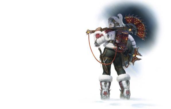 Картинка зима, девушка, воин, Illustrator, AGOTO -, Frost - Mercenary_Axe Hunter
