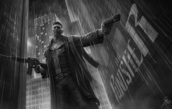Картинка Рисунок, Art, Punisher, Marvel, Castle, Касл, Marvel Comics, Comics, Illustration, The Punisher, Каратель, Frank Castle, …