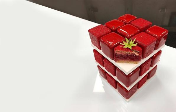 Картинка настроение, сладость, пирожное, десерт, тортик, вкусняшка, глазурь, ягодка