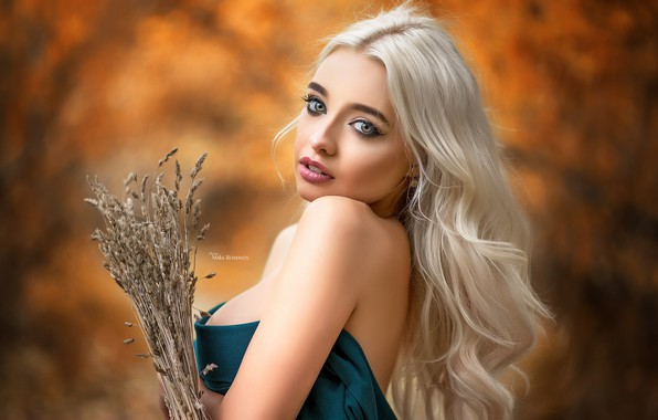Картинка girl, cleavage, long hair, dress, breast, photo, photographer, blue eyes, model, lips, face, blonde, chest, …