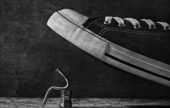 Картинка кеды, гвоздь, nail, sneakers, Stephen Clough