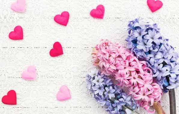 Картинка любовь, цветы, сердце, букет, сердечки, love, розовые, heart, pink, flowers, beautiful, romantic, valentine's day, spring, …
