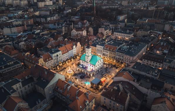 Картинка город, крышы, Gliwice
