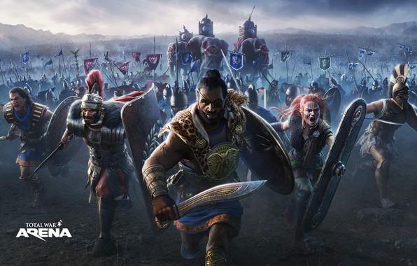 Картинка elephants, army, total war, attack, Hannibal, Leonidas, Total War Arena, armies, Boudica, Germanicus, Hasdrubal