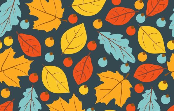 Картинка осень, листья, фон, colorful, background, autumn, pattern, leaves, осенние, seamless
