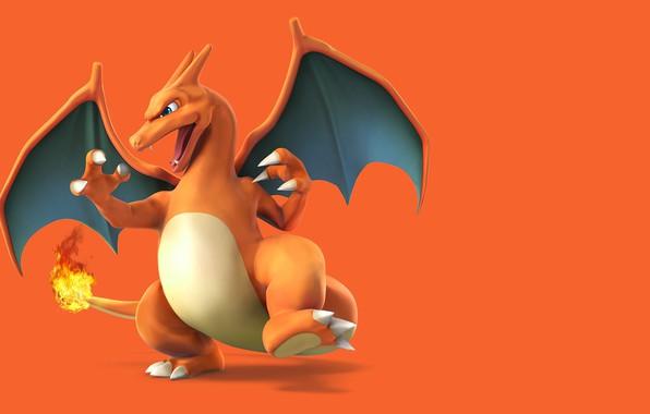 Картинка фон, огонь, дракон, fire, dragon, покемон, pokemon, чаризард, Charizard