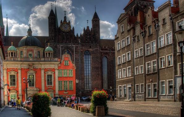 Картинка улица, дома, Польша, Гданьск