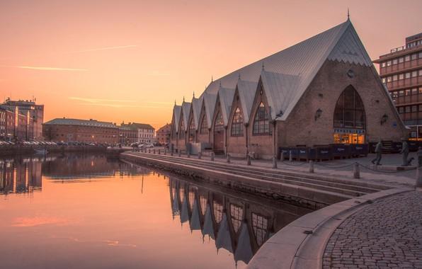 Картинка вечер, Швеция, Гётеборг