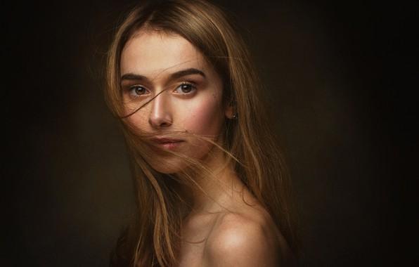 Картинка взгляд, девушка, лицо, фото, модель, волосы, портрет, Zachar Rise