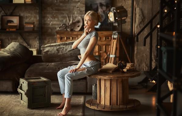 Картинка взгляд, девушка, блондинка, Катерина Ширяева, Анастасия Бармина