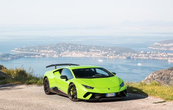 Картинка Lamborghini, Green, Performante, Huracan
