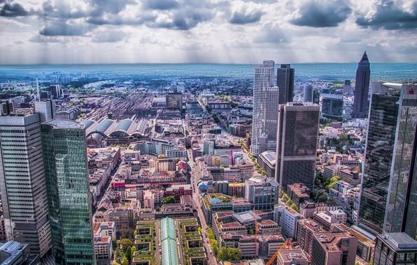 Картинка город, панорама, Франкфурт-на-Майне, Frankfurt am Main