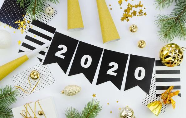 Картинка украшения, шары, Рождество, Новый год, Christmas, New Year, 2020