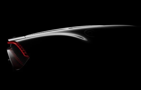 Картинка Bugatti, задняя часть, гиперкар, 2019, La Voiture Noire