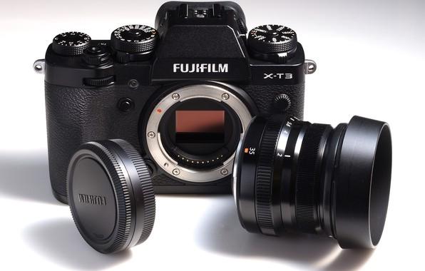 Картинка фотоаппарат, объектив, Fujifilm, системный, X-T3
