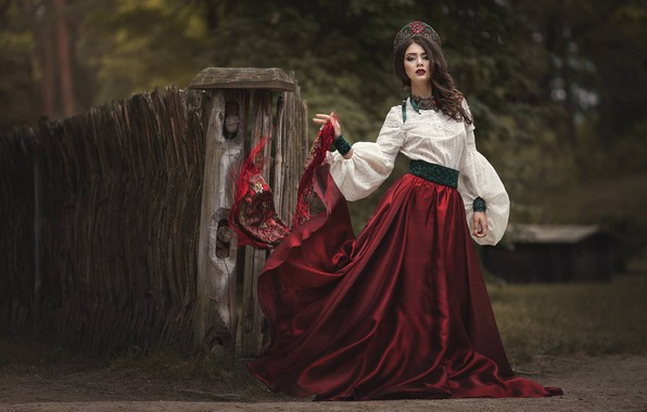 Картинка девушка, поза, стиль, наряд, Марина Затонская