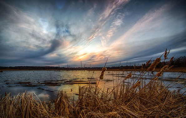 Картинка Природа, Озеро, Утро