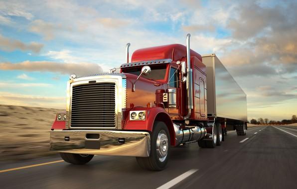 Картинка Грузовик, Peterbilt, американский грузовик