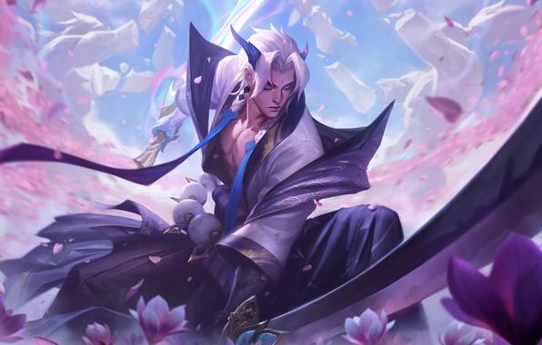 Картинка Самурай, lol, Game, League of Legends, samurai, Лига Легенд, Riot Games, yone, Yone, Yone skins, …