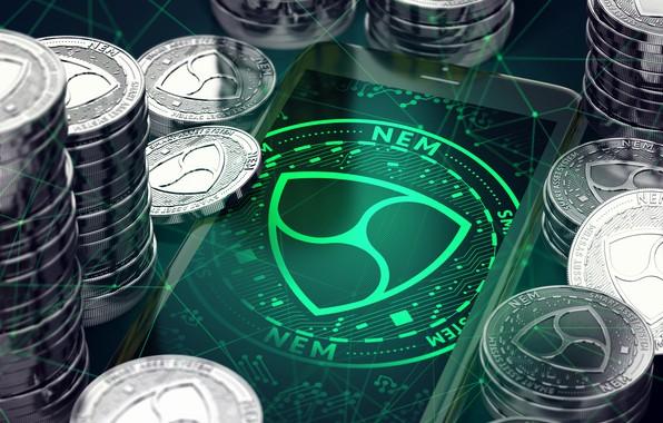Картинка green, зелёный, logo, монеты, coins, xem, nem, нэм