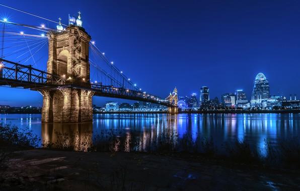 Картинка skyline, Cincinnati, after sunset