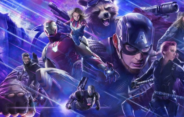 Картинка Scarlett Johansson, Action, Fantasy, Superheroes, Hulk, Space, Darkness, Galaxy, Men, Girls, Nebula, Iron Man, The, …